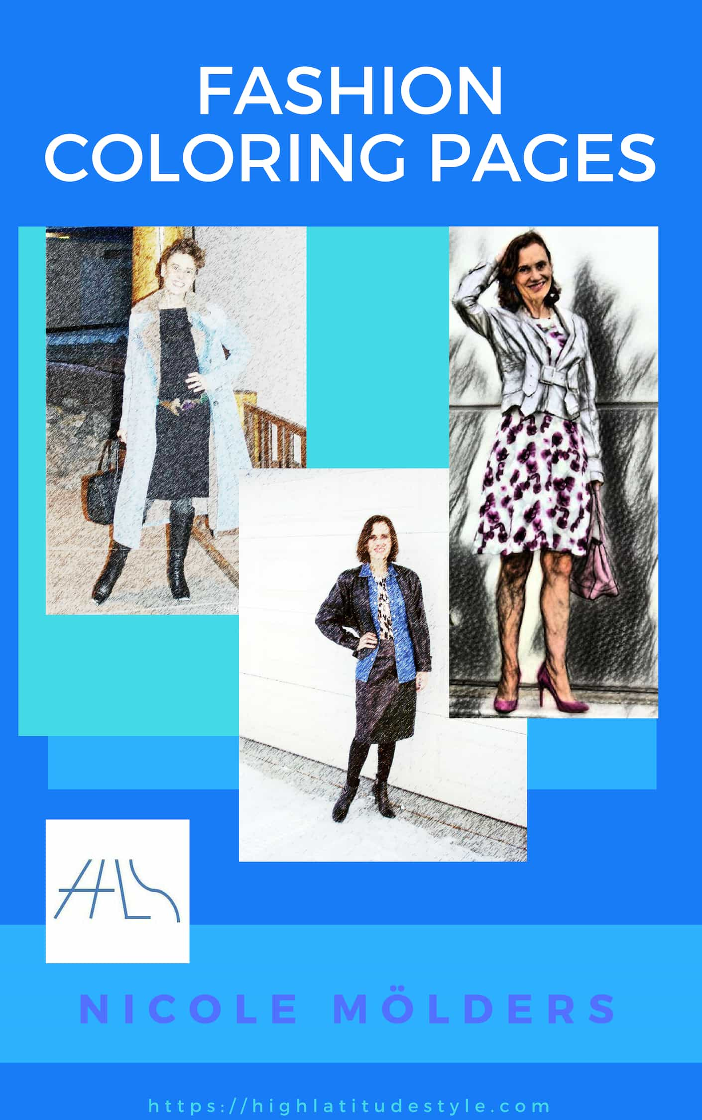 Fashion Coloring Pages e-book by Nicole Mölders of High Latitude Style